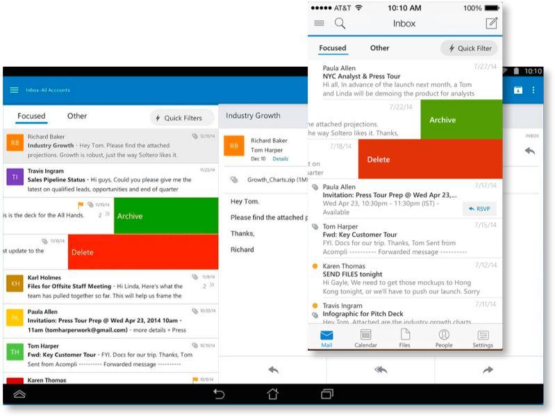 Microsoft tar Outlook till Ios och Android