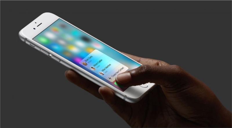 Tryckkänslig skärm stora Iphone-nyheten