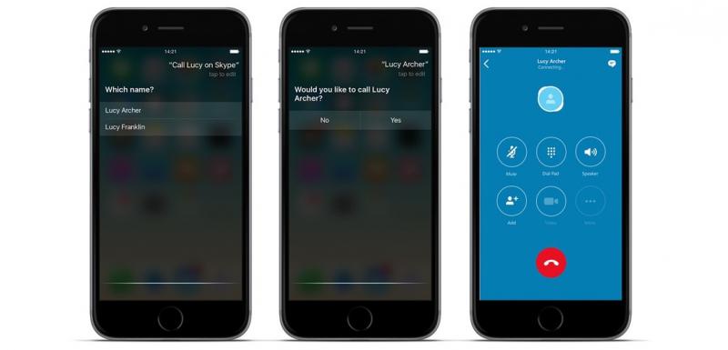 Siri + Skype = sant