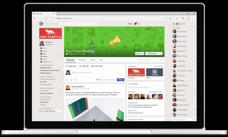 Facebook Workplace får ny integrationsplattform