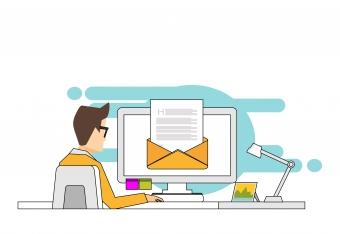 Digital företagspost med Tre