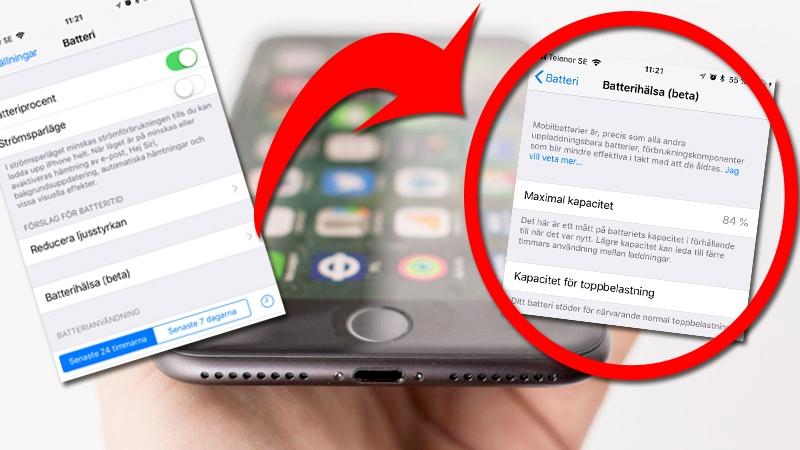 """Så ser du batterihälsan på din Iphone – och om den """"strypts"""""""