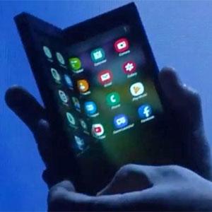 Samsung visade upp den vikbara mobilen