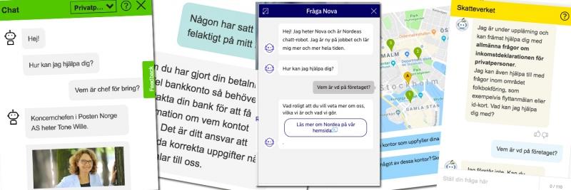 Från kass till rätt bra – så bra är fem storföretags chatbotar