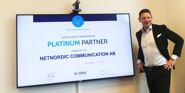 Netnordic blir Mitel Platinum Partner