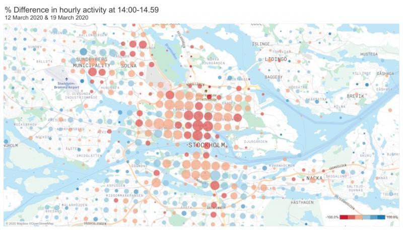 Telias analys: Så mycket mindre rör vi oss i Stockholm