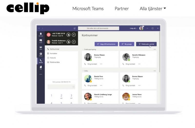 Cellip lanserar paket med Teamstelefoni för mindre företag