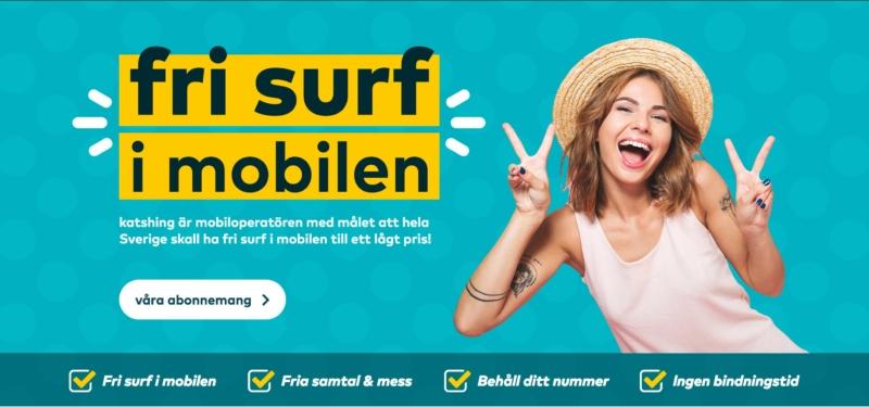 Katshing kör fri surf – på alla abonnemang
