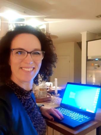 Marie Berner Moberg: Så jobbar jag hemma nu