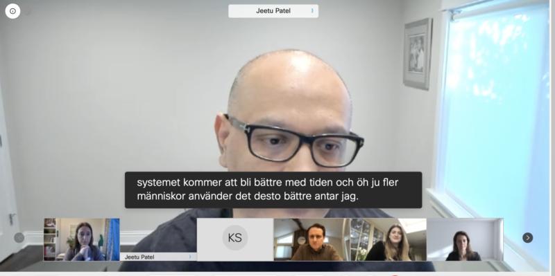 Cisco släpper översättning till svenska i Webex