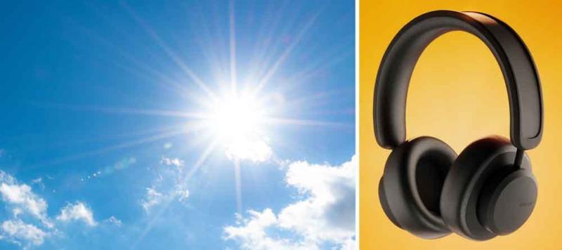 Svenska hörlurar som laddas av solen