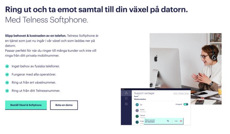 Nu lanserar Telness softphone