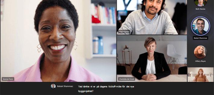 Microsoft Teams får stöd för textning i realtid på svenska